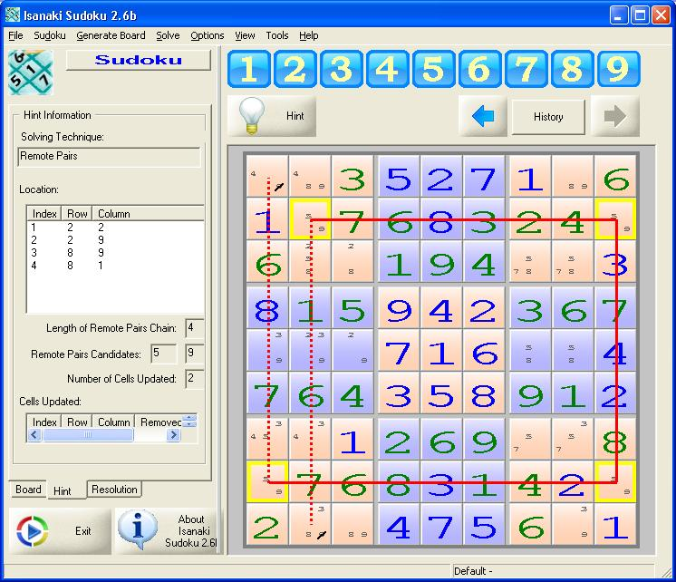Click to view Isanaki Sudoku 2.6b screenshot